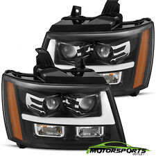 [Polished Black] 07-14 Chevy Suburban/Tahoe/Avalanche LED Projector Headlights