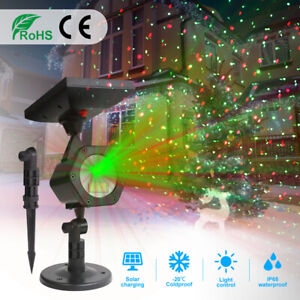 Solar LED Laser Star Projector Light USB Rechargeable Swimming Pool Pond Lights