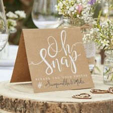 OH SNAP !  INSTAGRAM tent signs - Rustic Country Wedding Party Table Decor x 5