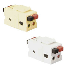 One Tool-less Speaker Connector for Keystone Wall plate CHOICE OF White or Ivory