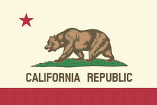 California CA State Flag 7 X 10 Wood Sign Love & Laughter MADE IN USA