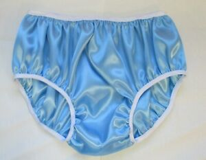 Adult Sissy Baby Reversible Double Satin Women's Panties for Men XL Hipster Cut
