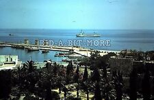 Original Maritime Photo Slide, 1959 - Vintage Cargo Ship, Fishing Boats in Port