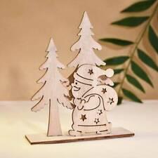 Marry Christmas Wooden Santa Claus Ornaments Xmas Pendant Table Home Decor