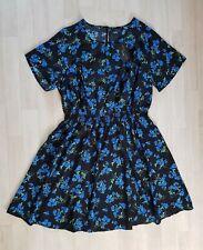 Floral Vestido Skater Talla 20 Negro Nuevo Look-las curvas Mini Corto de Verano Azul Verde