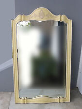 Tall Vtg John Widdicomb French Country Cottage Wall Mantle Mirror Italian Yellow