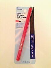 Maybelline Expert Wear Brow & Eye Liner VELVET BLACK 151 w/retractable dispenser