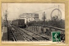 Cpa Paris - Chemin de fer Métropolitain - Tablier du viaduc av. Lowendal tp090