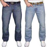 "FB Jeans Mens Designer Regular Fit Boot Cut Jeans Waist Sizes 28""-48"", BNWT"