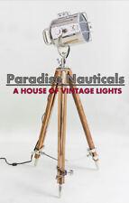Handmade Spot Light - Vintage Industrial Wooden Tripod Floor Lamp Decor