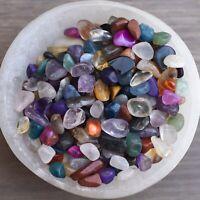 Mixed Mini Crystal Chips, Quality Fairy Gemstone Tumbled Stones, Bulk Lot - 100g