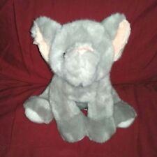 Gund Jungle Wonders Elephant Grey Soft 10in Plush 031085 White Pads Pink Ears
