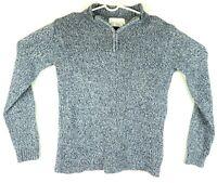 Casual Corner Annex Women's Medium Mock Neck 1/4 Zip Long Sleeve Sweater
