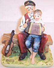 "Norman Rockwell ""The Music Lesson"" Figurine Museum, 1980, Porcelain"