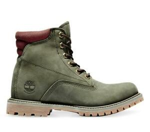 Timberland Womens Waterville Premium Leather Waterproof 6 Inch Work Boots  A2DFW
