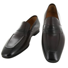 New $900 Fiori Di Lusso Brown Leather Shoes - Loafers - (ROMABRN)