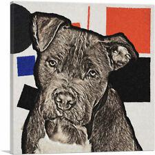 Artcanvas Cane Corso Dog Breed Black Blue Red Canvas Art Print