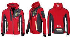 Geographical Norway abrigo suaves de hombre lluvia Outdoor Otoño chaqueta tacto m rojo