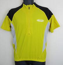 Cycling Bicycles Retro Jersey Top Shirt Yellow Trikot Maillot Maglia Large S
