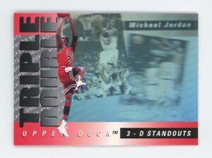 1993-94 Upper Deck MICHAEL JORDAN 3D Standouts Hologram Insert Card #TD2