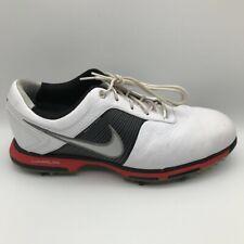 Nike Mens Lunar Control Golf Shoes White Black 418471-108 Lace Up Low Top 8