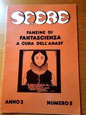 SF..ERE - Anno 2° n. 5 1979 fanzine di fantascienza a cura dell'ANASF - rivista