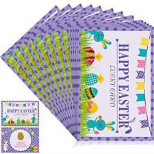 Frienda 24 Pieces Happy Easter Fortune Cards, Easter Eggs and Bunny Scratch Off