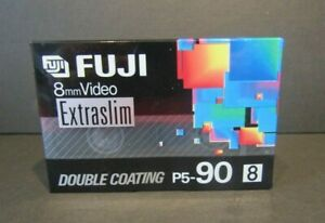 Fuji P5-90 Extra Slim 8mm Video Cassette Double Coating 90 Minute New Sealed