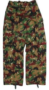 GENUINE SWISS ARMY COMBAT TROUSERS in M83 ALPENFLAGE CAMO