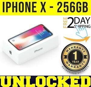 Apple iPhone X - 256GB (FACTORY UNLOCKED) SILVER ✅ 1 YEAR WARRANTY✅✤SEALED✤w