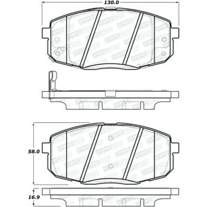 Disc Brake Pad Set-Street Brake Pads Front Stoptech 308.13971