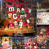 Merry Christmas Removable Shop Window Sticker Xmas Wall Home Decor Snowflake LOT