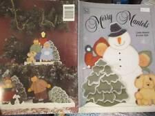 Merry Mantels Painting Book-Huestis/Pyle-Children & Snowmen/Toboggan/Skating/Hoc