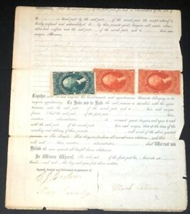 US Revenue Stamps #R81c, R85c on Document 1866