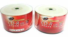 100 SKYTOR Grade A Blank CD-R CDR 52x 700MB Silver Inkjet Printable Media Disc