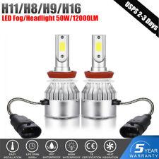 H11 LED Headlight H8/H9 50W 12000LM Fog lights 6000K Super Bright Bulb White