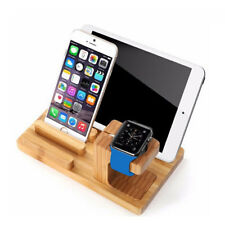 Stand tavolo legno bamboo design per Apple Watch iPhone iPad tablet smartphone