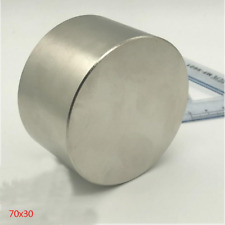 Round N50 Large Neodymium Rare Earth Magnet Big Super Strong Huge 70mm30mm40mm