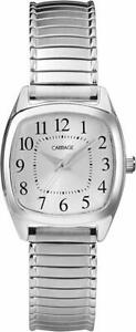 Timex Carriage C3C751, Women's Silvertone Expansion Band Watch, Silver Dial