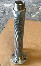 """stainless steel hose 2"""" x 21 3/4"""" long flange x male thread"""