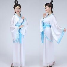 Women Chinese Ancient Costume Long Sleeve Hanfu Dress Performance Outfit Cosplay