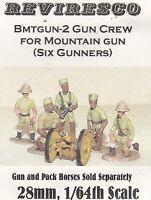 Britische Geschützbedienung Ostafrika - 1. Weltkrieg - 1:64  - 6 Zinnfiguren OVP