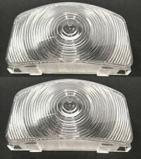 Pair (2) Clear Parking Light Lens for 1955-1956 Ford F-100 F-250 F-350 Pickup