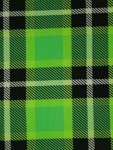 LuLaRoe OS Leggings Green White Black Plaid Christmas & St Patrick's Day