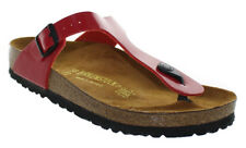 Birkenstock Women's Gizeh Sandals Tango Red Patent Size EU 38/US 7-7.5