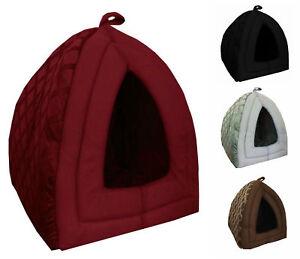 Luxury Folding Pet House Comfort Fleece Igloo Cave Tent Mat Dog Cat Kitten Puppy