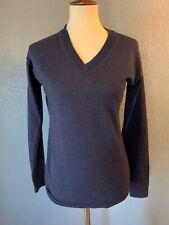 Women's Brooks Brothers sweater extra fine Italian merino M blue