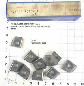 10 St. 4.21501R018 KM1 Hertel Wendeplatten Inserts NOS neu unbenutzt B383