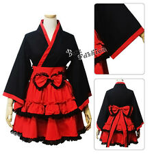 Lolita  Anime Red And Black Dress Cosplay Costume Women Girls Party Skirt