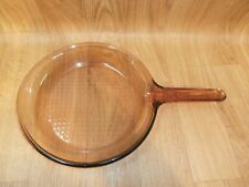 """Visions Corning Amber Skillet Frying Pan Cookware Made In France 10"""" Pyrex"""